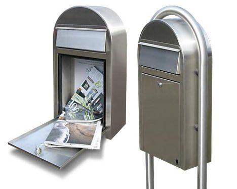BoBiGrande-S postkasse - smal postkasse i rustfritstål.